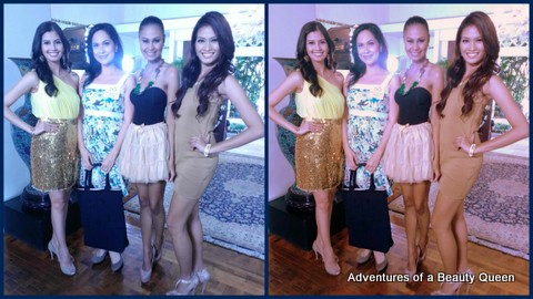 Me with the Top 3 beauty queens of the Philippines Shamcey Supsup, Venus Raj and Janine Tugonon!