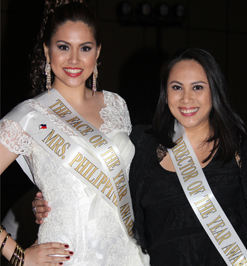 Mrs. Philippines Globe 2012 Joyce Agsaway (right) with Carla Cabrera Quimpo who won Director of the Year in the Mrs. Globe 2012 pageant held in California! Proud to be PINOY!