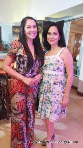 Ruffa Gutierrez (left) with ABQ author Joyce Burton Titular