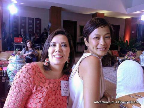 Sharon Hughes (left) with Izza Gonzales