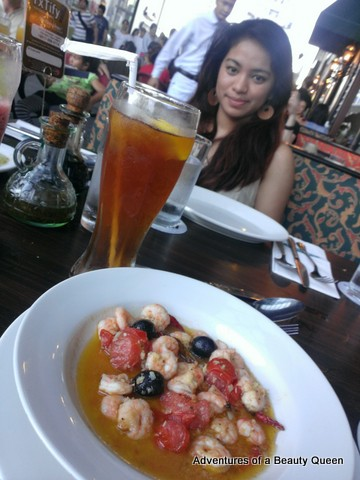 With my friend Krissy at Italliani's. The shrimp dish is for me!