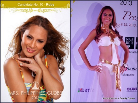 10) Ruby Jane Lehman (Greater Manila Area) - 39 yo - Supermodel of the World Philippines Finalist 1989. Works as a Matire D'