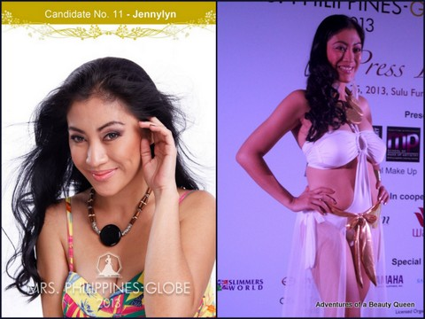 11) Jennylyn Isherwood (Greater Manila Area) 37 yo - Mrs. Asia International 2012 1st RU. Story-writing contest winner (published)