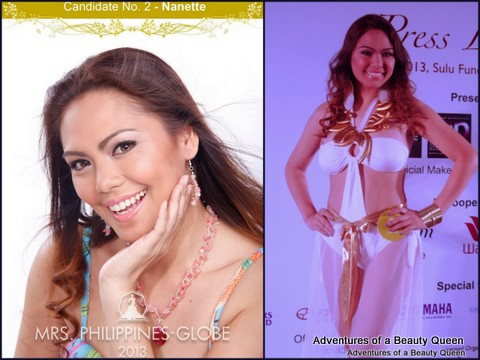 2) Nanette Ballono (Cebu) - 32 yo - 2nd RU of Miss Herway 2001. Works as a Store Consignor Supervisor