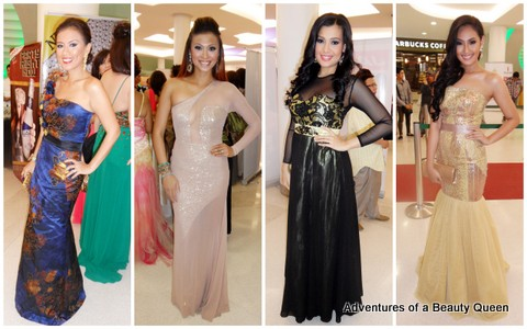4) Tina Alcala, a beauty queen in beige gold, Isabella Manhon and Dianne Necio