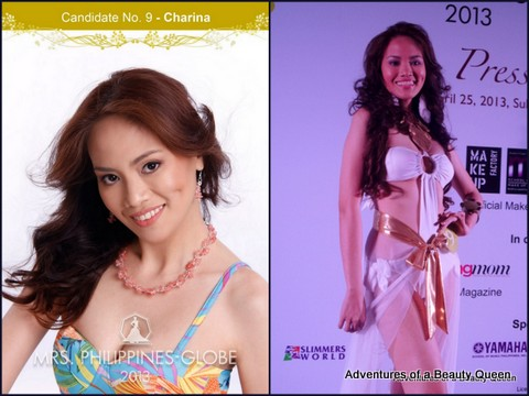 9) Charina Clarin (Rizal) 35 yo - Miss Taytay 1997, ESL Teacher, Registered Nurse and House Rental Proprietor.