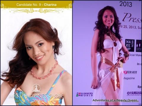 9) Charina Clarin (Rizal) 35 yo - Miss Taytay 1997, ESL Teacher, Registered Nurse and House Rental Proprietor.