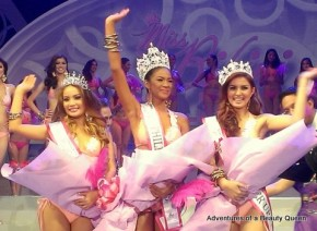 Miss Bikini Philippines 2013 winner is Janicel Lubina (middle), 1st Runner up is Cheeny Racel (right) and 2nd Runner up is Rosemary Turner