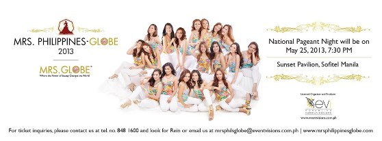 Mrs. Philippines Globe 2013 contestants!