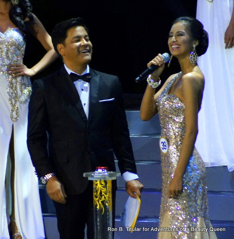 Mutya Datul and Martin Nievera duing a light moment in the Q&A portion...