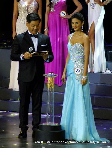 Pia Wurtzbach mesmerizes the judges with her piercing eyes and strong answer. She won the Bb. Pilipinas 2013 Runner-up title.