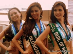 Darlings of the Press - Winner - Olongapo (middle), Silver - Muntinglupa (left) and Bronze - Nagcarlan