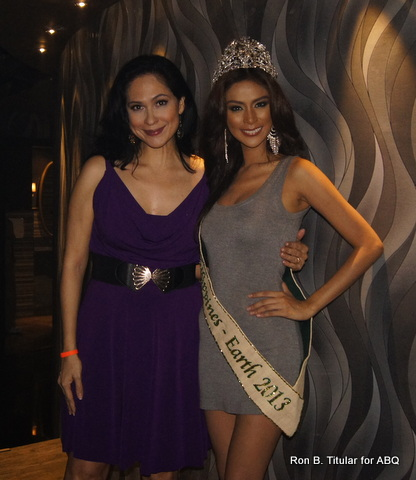 ABQ with the brand new Miss Earth Philippines 2013 winner, Angelee Claudett delos Reyes - isn't she just stunnningly fab?