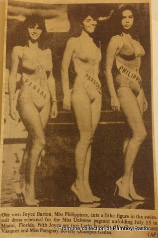 Im on the far right... this was taken during the Miss Universe 1985 competition...