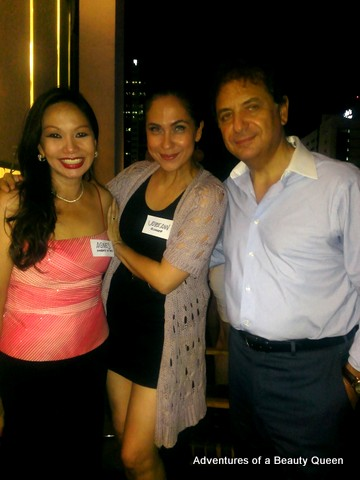 L-R - Agnes Ventura Roscigno (the ambassador's wife and my batchmate at Bene), me in the middle and Ambassador Roscigno of the Italian Embassy in the Philippines