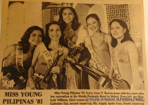 Me and my court of beauties - Miss Young Philippines batch 1981!