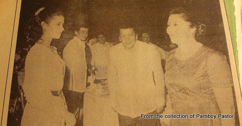 Me on the far left, Imelda Marcos on the right with Joseph Estrada who was just an actor then. Behind him is his brother, actor George Estregan. This was taken during one of the Manila International Film Fest events...