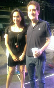 Me w Direk Johnny Manahan who was my director on Chika Chika Chicks! This photo was taken during the rehearsals for the Queens Parade during Bb. Pilipinas Gold!