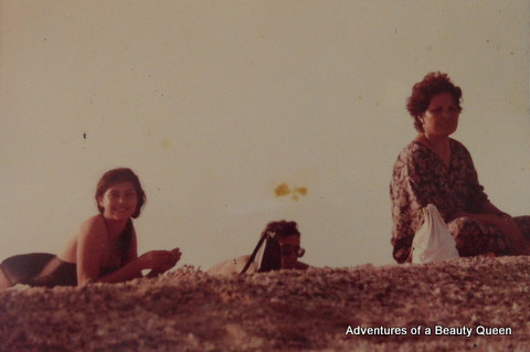 Me with Mom, just bumming around on a remote island near Iloilo. We were in town because of a fashion show...