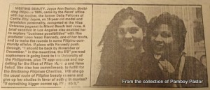 Mom was always by my side! Even in newspaper articles, aahaha!