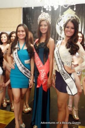 MTWP 2012 Mindanao Lea Laano (left),  MTWP rep to Best Model of the World 2012 Joy Gangan and MTWP Visayas 2012 Elizabeth Alindogan