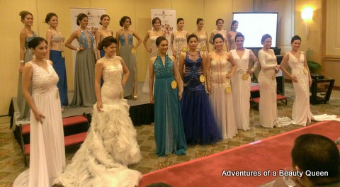 The 18 beauties at the prepageant of Mrs Globe Philippines 2013!