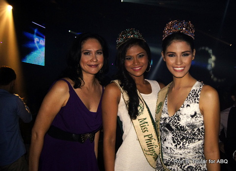 With my two other favorties - Miss Philippines Eco-Tourism, Bernadette Aguirre (middle) and Miss Philippines Water 2013 Nancy Leonard (right)