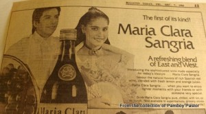 With Pitoy Moreno Model Lito Gruet. We were the first models of Maria Clara Sangria!