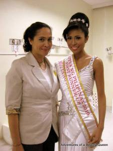 ABQ author Joyce Burton Titular with Suzette Hernandez after placing 1st RU in Mutya ng Pilipinas 2010