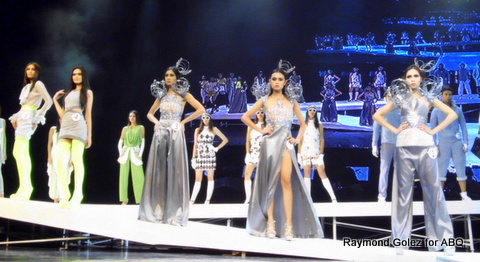 Beautiful space age suits at Body Shots X 2013