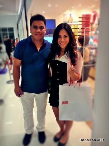 Diandra with Tito Roxas of Uniqlo
