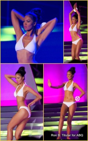Janicel Lubina during the Creative Posing Competition at Slimmers' World Miss Bikini Philippines 2013