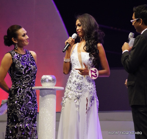 Janicel Lubina is so 'ambisyosa' that even if English isn't her best language she chose to answer her question during the pageant in English.