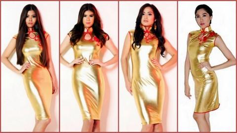 L-R #5 Jamie Chua Reyes, #6 Lhowelle Lyka Tan, #7 Sheryl Elaine Q Chua and #8 Samantha Jade Dy