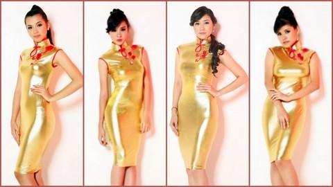 L-R #9 Maricon Cho, #10 Hannah Dy, #11 Frances Elaine T. Cham and #12 Kimberly Nicole Ang Mas
