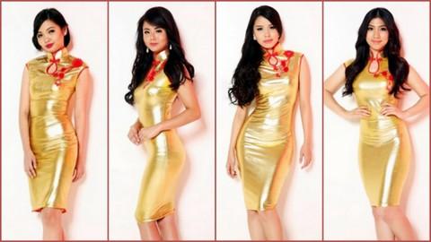 L-R #13 Aeryka Chu, #14 Catrina Mika De Guzman Ang, #15 Catherine Yao abd #16 Anna Patricia Baesa Tan