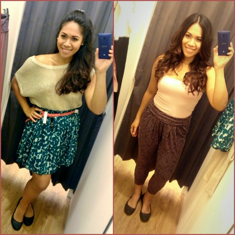 So girly on the left... so casually relaxed on the right. Great fashion from Uniqlo!!