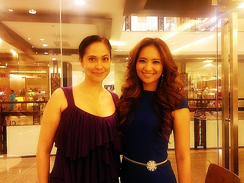 ABQ author Joyce Burton Titular (left) with Mrs. Asia Tourism International 2013, Stephanie Malibiran