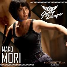 Actress Rinko Kikuchi as Mako Mori in Pacific Rim