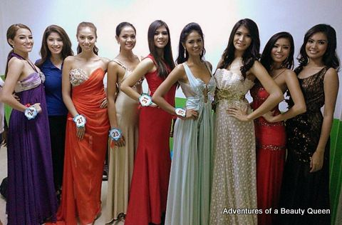 Applicants at Miss World Philippines 2013 Final Screening - L-R - Nicole Marable, Zahra Bianca Saldua, Bianca Paz, Angelica Lopez, Janicel Lubina, Paula Estenso, Zandra Flores and Mercegrace Raquel
