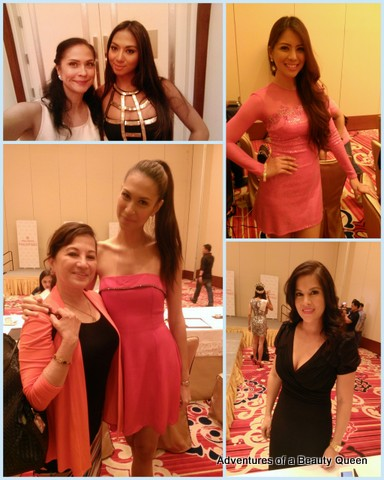 Clockwise from Top Left - Me with Ross Misa; April Love Jordan, Jenny Syquia who sat on the panel of judges and Gwendoline Ruais with one of the lovely ladies in the secretariat of MWP.