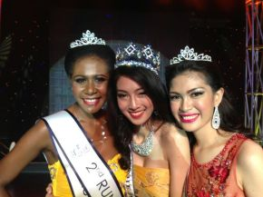 Congratulations Philippines! Angel Barrameda is 1st Runner up in Miss Southeast Asian 2013 (right),  the winner (middle) is from Bangkok, Thailand and the 2nd Runner up (right) is from Merauke, Indonesia
