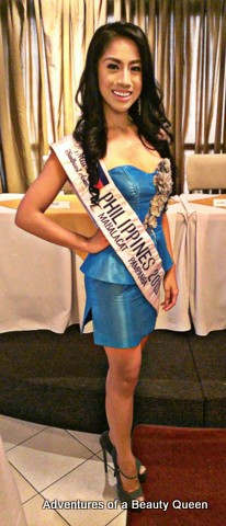 Donna Garon at her send-off before Miss South East Asian 2013!