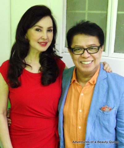 Miss World Philippines National Director Cory Quirino with salon mogul Jesi Mendez who sat on the screening panel