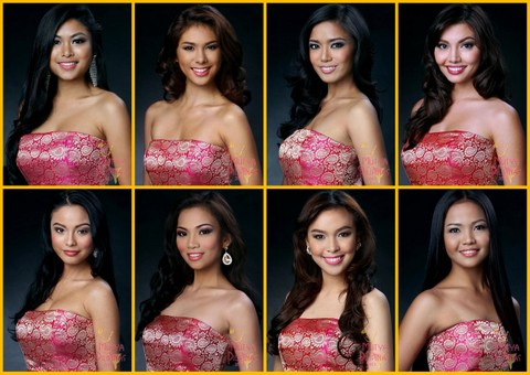 My Favorite Head Shots in Mutya ng Pilipinas 2013 - L-R #1, #6, #9, #13, #15, #19, #21, #29