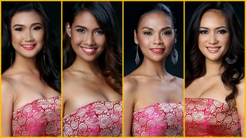My next set of favorite Head Shots in Mutya ng Pilipinas 2013 - L-R  #17, #20, #23 and #30