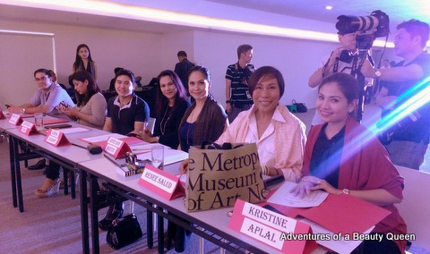Screening Judges on Day 1 - L-R Jon -Jon Posadas, Irma Montemayor, Jefferson Tan, Lorna Legaspi, Joyce Burton Titular (ABQ Author), Renee Salud and Kristine Caballero Aplal