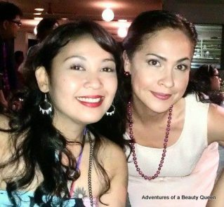 Singer Aia de Leon (left) and blog author Joyce Burton Titular