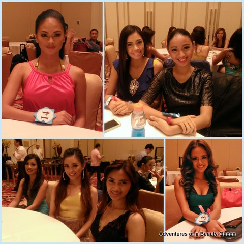 Some of the contestants relaxing before the presentation...