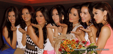 11) Aside from the Bb. Pil 2013 winners, Bb. Pil Univ '11 Shamcey Supsup (leftmost) was there as well as last year's Miss Supra Phils Elaine Kay Moll (beside Shamcey)